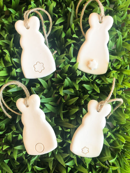 Clay Bunny Ornaments (set of 4)