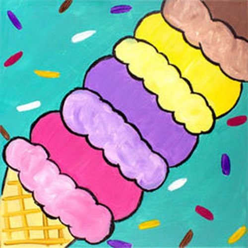 Ice Scream You Scream Kids Canvas