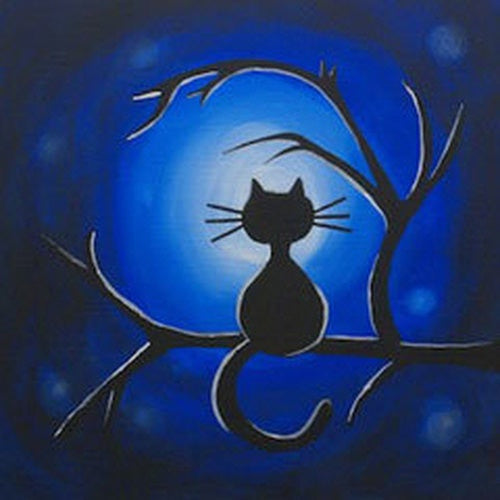 Moonlight Meow Kids Canvas