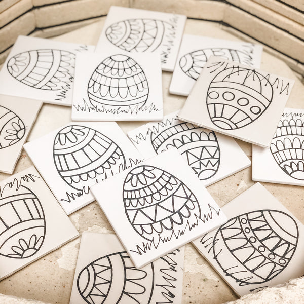 Easter Coloring Book Tile