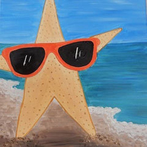 Stylin' Starfish Kids Canvas