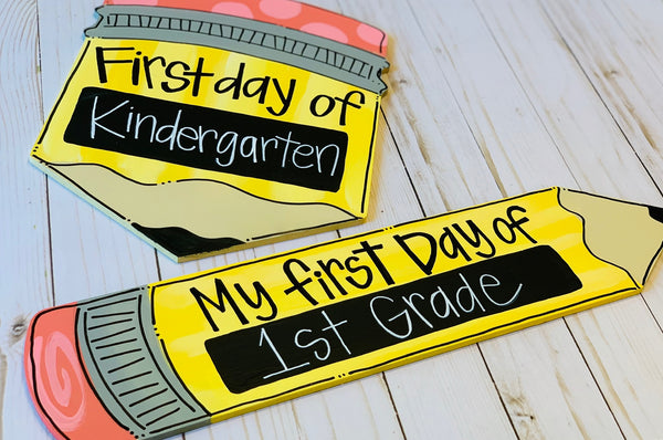 Custom Painted Back to School Chalkboard Pencil