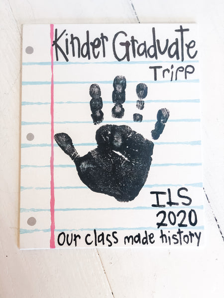 Custom Kinder Graduate Canvas 8x10