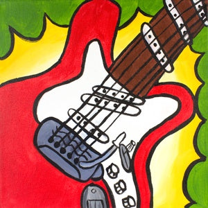 Rock Out Guitar Kids Canvas