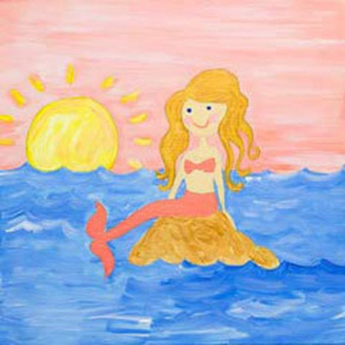 Mermaid Tales Kids Canvas