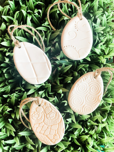 Textured Egg Ornaments (set of 4)