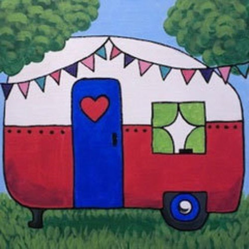 Happy Camper Kids Canvas