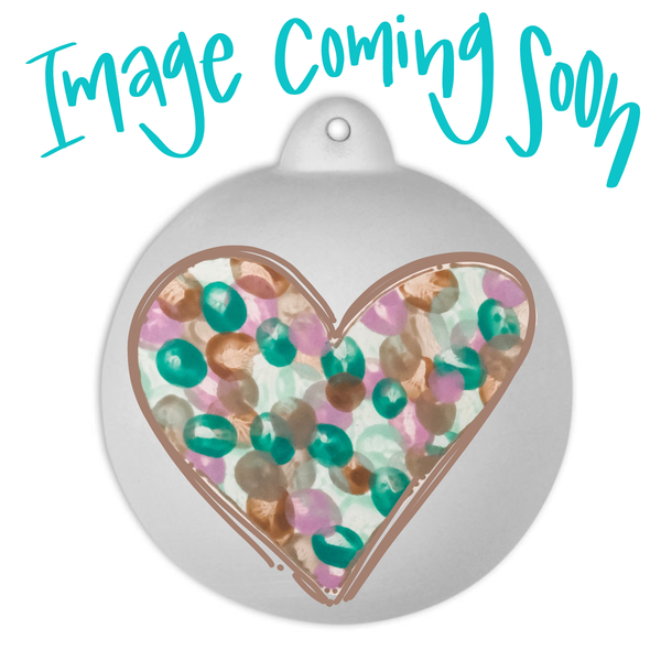 Family Fingerprint Heart Custom Ball Ornament