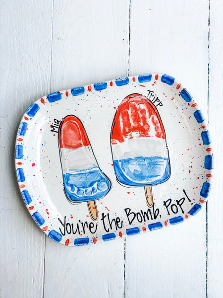 Bomb Pop Custom Father's Day Platter