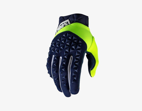 100% Airmatic Gloves Navy/Fluo