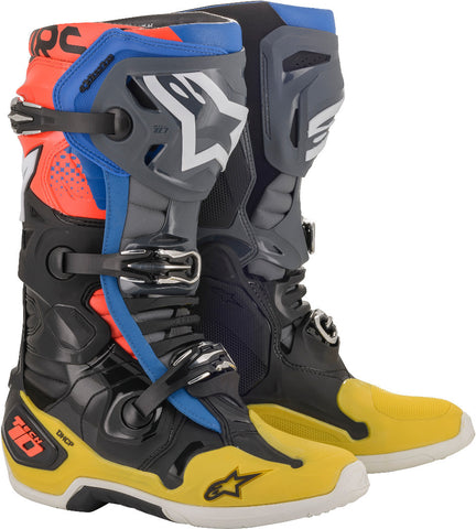 Alpinestars Tech 10 Boots BLK/YEL/BLU/RED