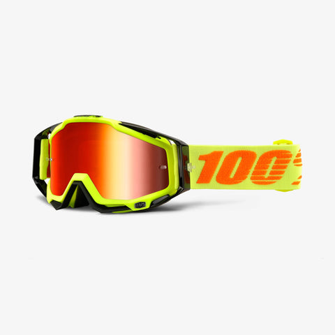 100% Racecraft Attack Yellow Goggles