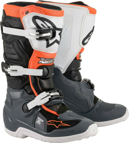 Alpinestars Tech 7S Youth Boots  BLK/GRY/WHT/ORG
