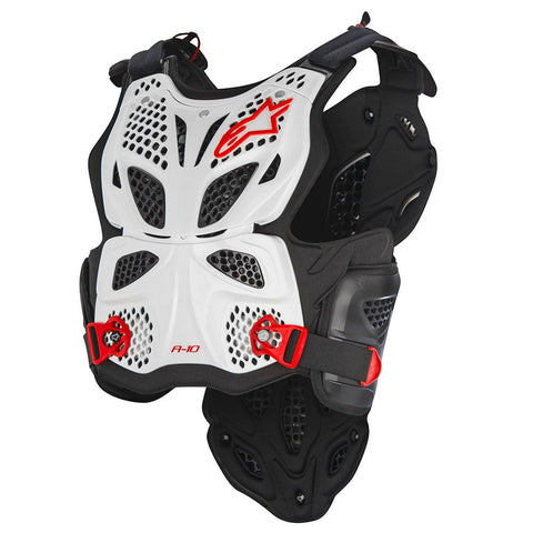 Alpinestars A10 Roost Guard - White/Black/Red