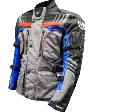 Berik All Season Adventure Jacket - Black/Grey/Blue