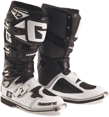 Gaerne SG-12 MX Boots - White/Black