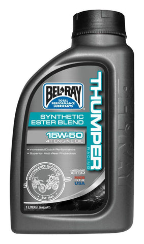 Bel-Ray Thumper Racing Synthetic Ester Blend 4T 1L Engine Oil 15W50