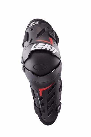 Leatt Dual Axis Knee and Shin Guard - Black/Red