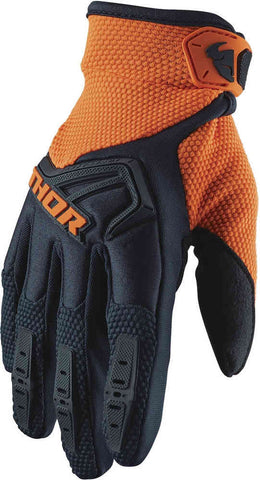 Thor Spectrum Gloves - Midnight Blue/Orange