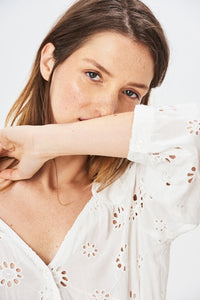 Embroidered Blouse - Ivory