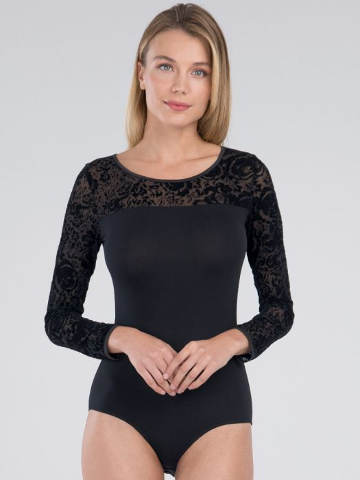 Long Sleeved Body - Black