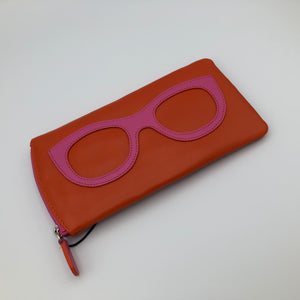 Sunglasses Case - Orange / Pink