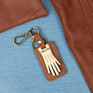Dents Keyring - Cognac