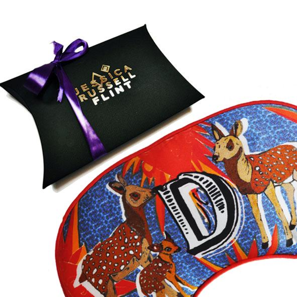"Silk Eye Mask / ""D for Deer"""