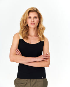 Casual Sleeveless Top - Black