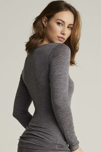 Juliana Long Sleeve Top - Grey