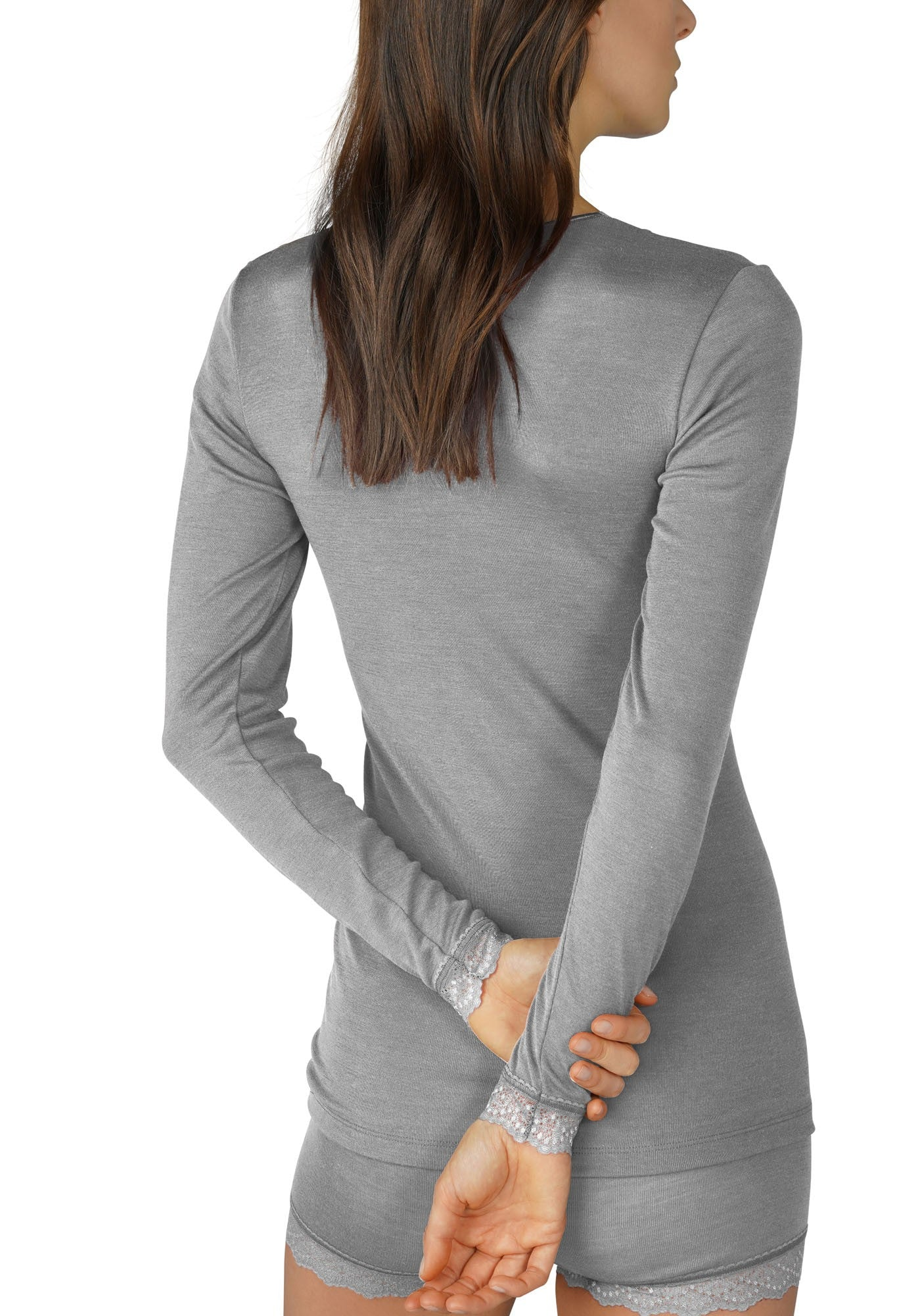 Silk/Wool Mix Top - Grey
