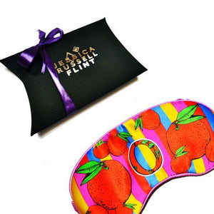 "Silk Eye Mask / ""O for Oranges"""