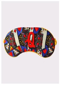"Silk Eye Mask / ""Q for Queen"""