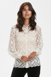 Vicky Lace Shirt - Cream