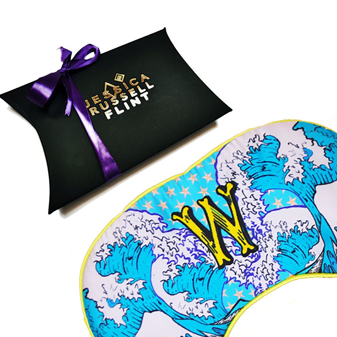 "Silk Eye Mask / ""W for Wave"""