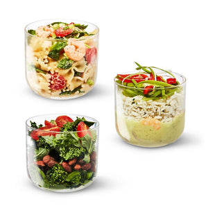 BLACK+BLUM Lunchbecher aus Glas 600 ml