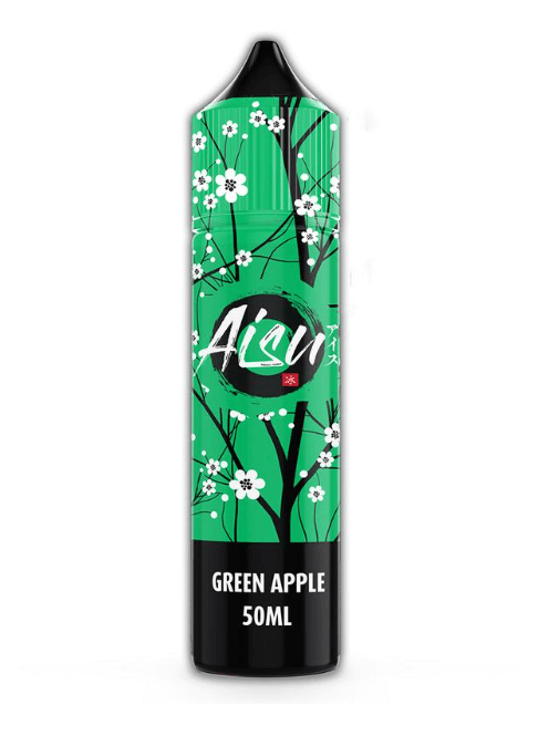 Aisu Green Apple 50ml E Liquid with FREE Nic Shot