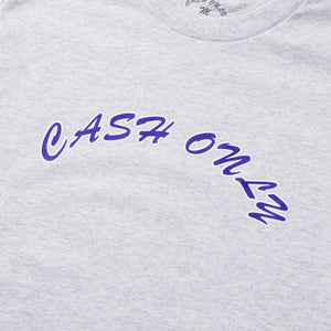 CASH ONLY Logo Tee Ash