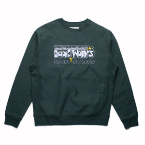 "BOOK WORKS×MIN-NANO ""Get Pointed"" Crewneck"
