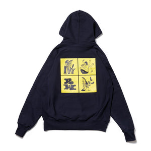 BOOK WORKS Rivers I Have Known Hoody -NAVY