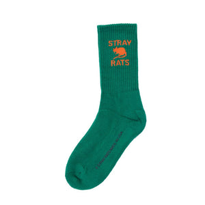 STRAY RATS Rat Logo Sock -GREEN
