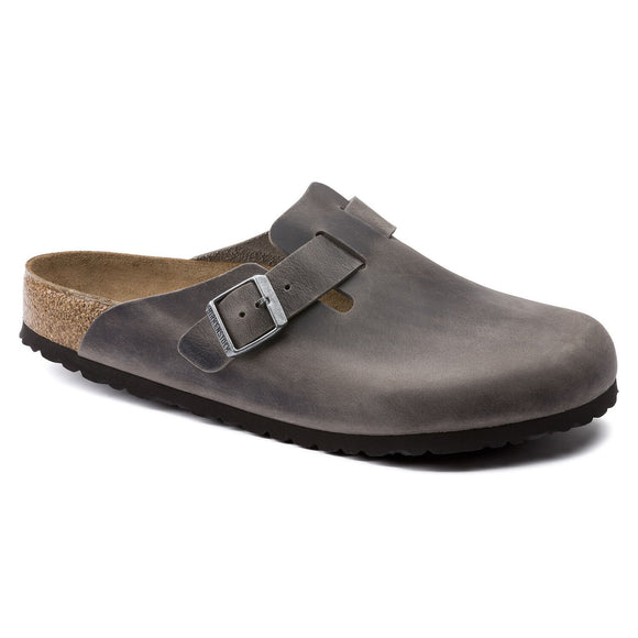 Birkenstock - Boston Soft - Iron Leather