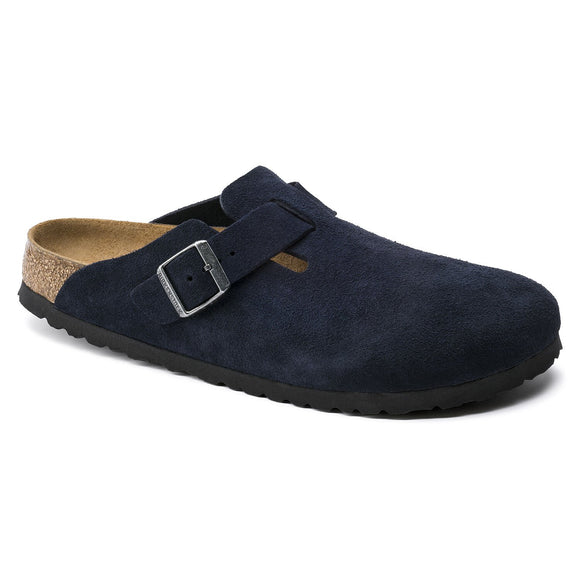 Birkenstock - Boston Soft - Night Blue Suede Leather