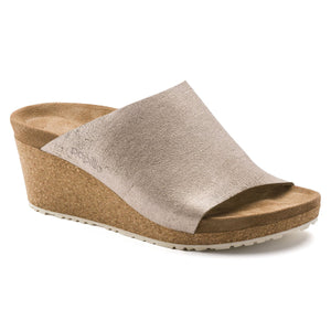 Birkenstock - Namica - Washed Metallic Rose Gold Suede Leather