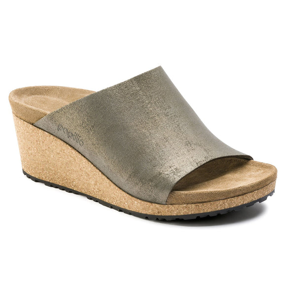 Namica - Washed Metallic Stone Gold Suede Leather