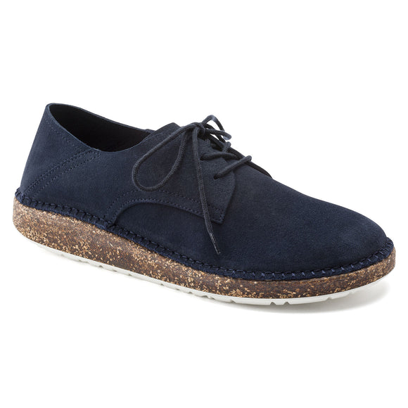Gary - Navy Suede Leather