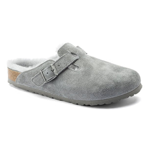 Boston Shearling - Dove Gray Suede