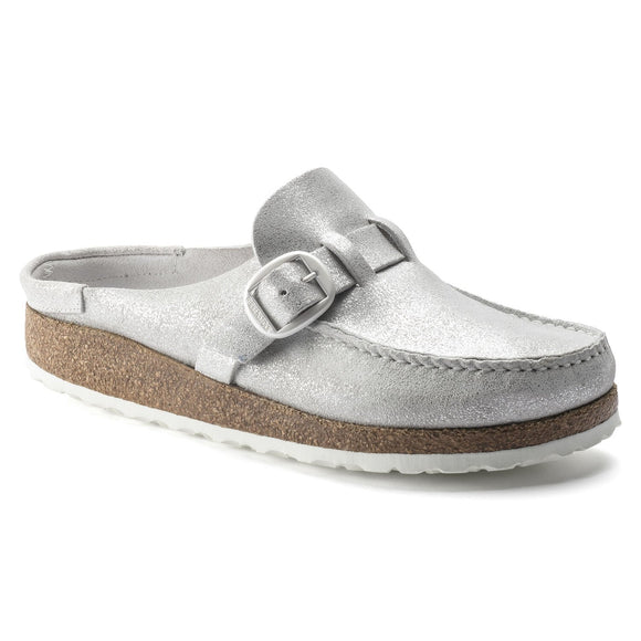 Buckley - Washed Metallic Silver Suede