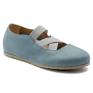 Santa Ana - Lead Blue Nubuck Leather