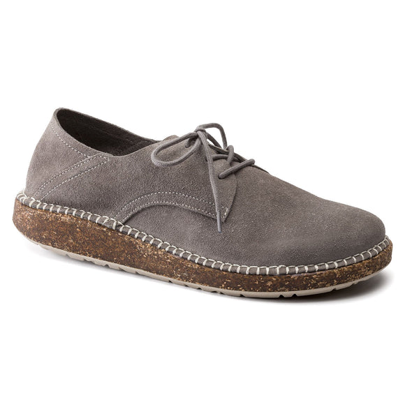 Gary - Light Grey Suede Leather